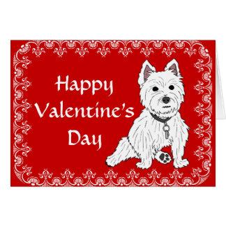 Cartão do feliz dia dos namorados de Westie