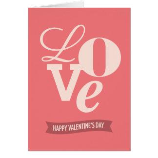 Cartão do feliz dia dos namorados do amor |