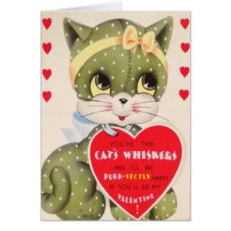 Cartão do feliz dia dos namorados do purr-fectly