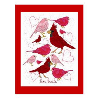 Cartão do feliz dia dos namorados dos corações dos cartão postal