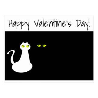 Cartão do feliz dia dos namorados dos gatos do cartão postal