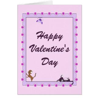 Cartão do feliz dia dos namorados - gatos