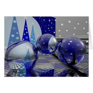 Cartão do Feliz Natal 3d