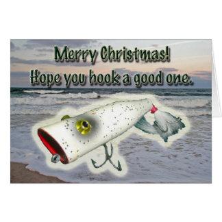 Cartão do Feliz Natal da atração do vintage