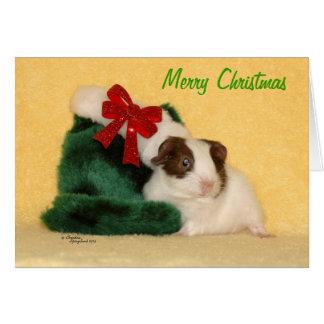 Cartão do Feliz Natal da cobaia do bebê