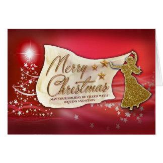 Cartão do Feliz Natal da dança do ventre