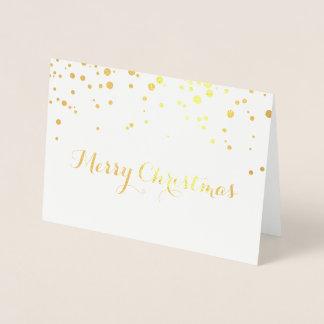 Cartão do Feliz Natal da folha de ouro