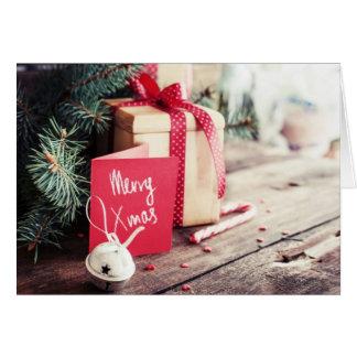 Cartão do Feliz Natal da foto
