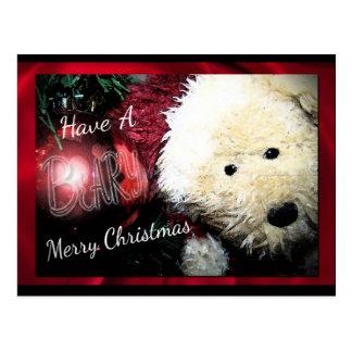 Cartão do Feliz Natal de Beary