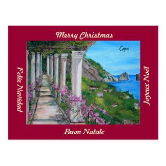 Cartão do Feliz Natal de Capri, Italia