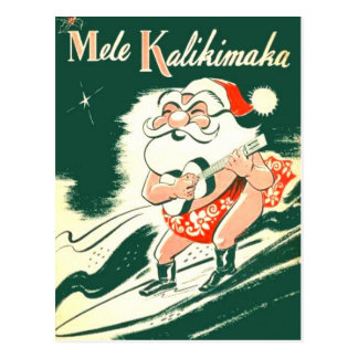 Cartão do Feliz Natal de Mele Kalikimaka A muito