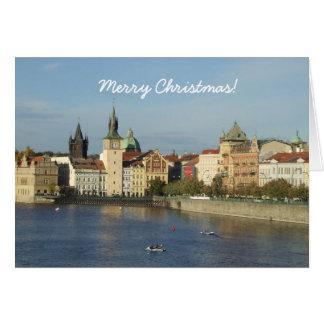 Cartão do Feliz Natal de Praga