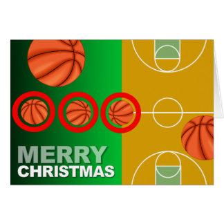 Cartão do Feliz Natal do basquetebol