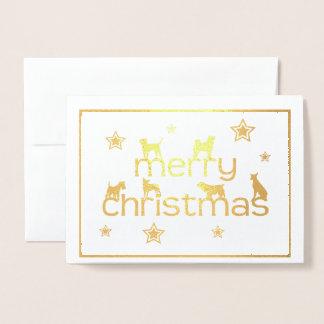 Cartão do Feliz Natal do cão