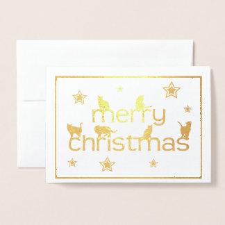 Cartão do Feliz Natal do gato