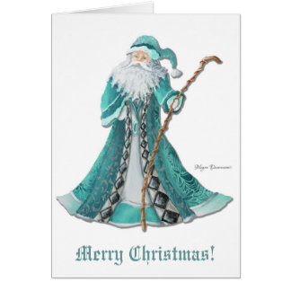Cartão do Feliz Natal do papai noel do Velho Mundo