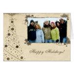 Cartão do Feliz Natal do pergaminho com sua foto