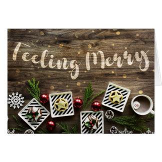 Cartão do Feliz Natal do sentimento