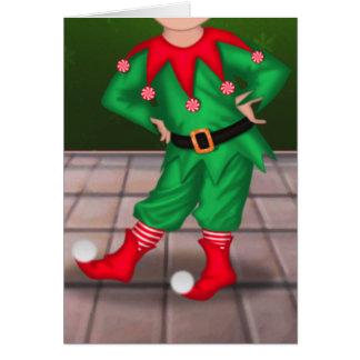 Cartão do Feliz Natal - duende