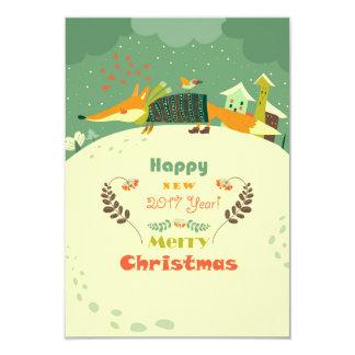 Cartão do Feliz Natal e do feliz ano novo 2017 Convite 8.89 X 12.7cm