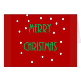 Cartão do Feliz Natal - vermelho e verde
