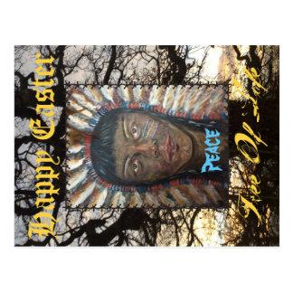 Cartão do felz pascoa cartão postal