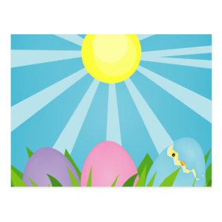 Cartão do felz pascoa da manhã da páscoa
