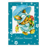 Cartão do felz pascoa de Felices Pascuas.Spanish