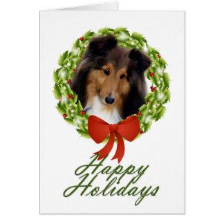 Cartão do feriado #1 de Sheltie