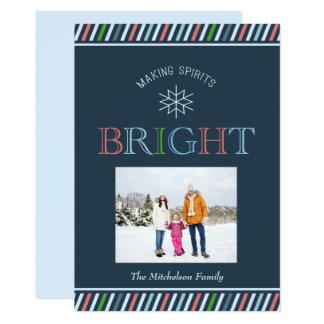 Cartão Do feriado brilhante da foto dos espírito do fazer