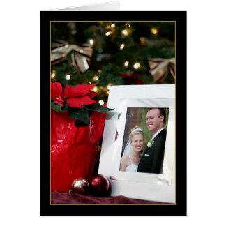 Cartão do feriado da aguardente e do Justin