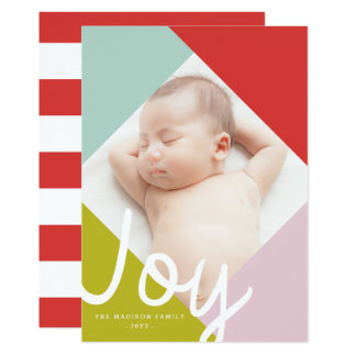 Cartão do feriado da alegria do bloco da cor