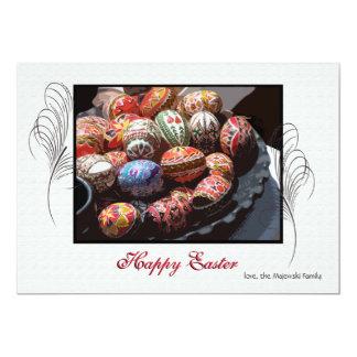 Cartão do feriado da bandeja do ovo da páscoa convite 12.7 x 17.78cm