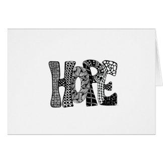 Cartão do feriado da esperança
