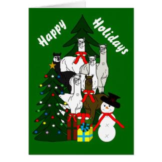 Cartão do feriado da estação do Natal da rocha das