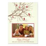 Cartão do feriado da família de pássaros do convite personalizados
