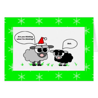 Cartão do feriado da farsa de Bah/carneiros do