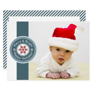 Cartão do feriado da foto do selo da modificação
