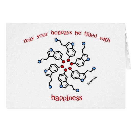 Cartão do feriado da grinalda da serotonina