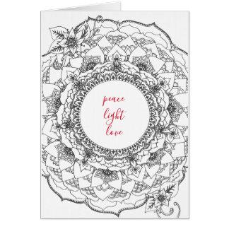 Cartão do feriado da mandala