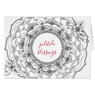 Cartão do feriado da mandala de Yule