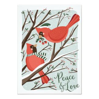 Cartão do feriado da Não-Foto do Birds of a Convite 12.7 X 17.78cm