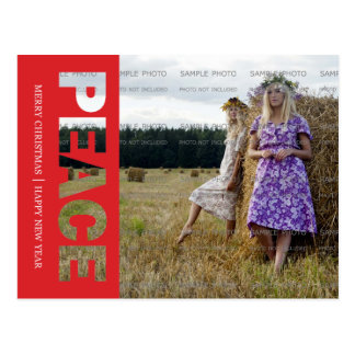 Cartão do feriado da paz