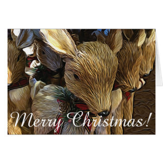 Cartão do feriado da rena