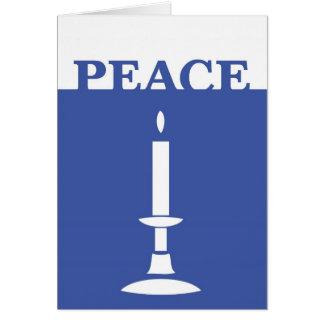 Cartão do feriado da vela da paz