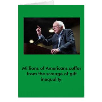 Cartão do feriado das máquinas de lixar de Bernie