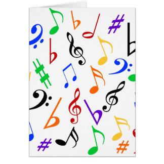 Cartão do feriado das notas musicais - multi