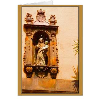 Cartão do feriado de Barcelona Madonna