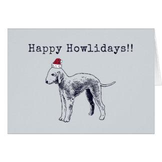 Cartão do feriado de Bedlington Terrier