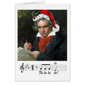 Cartão do feriado de Beethoven